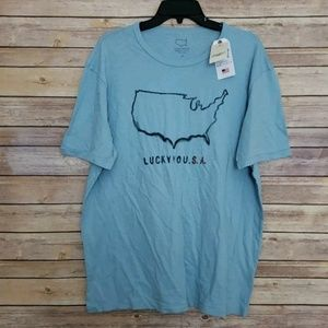 Lucky Brand USA Tee XL NEW NWT